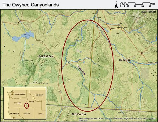Owyhee Canyonlands Map Owyhee River SUP Expedition   Owyhee Canyonlands