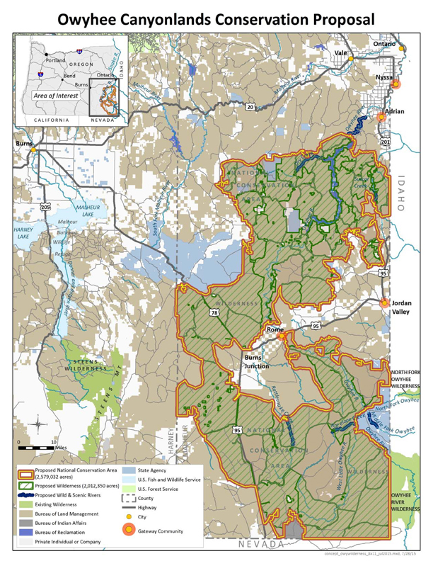 Owyhee Canyonlands Map See the Map   Owyhee Canyonlands